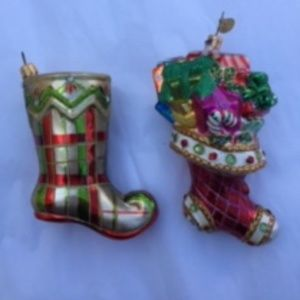 BOMBAY HOLIDAY ADORABLE STOCKINGS ORNAMENTS
